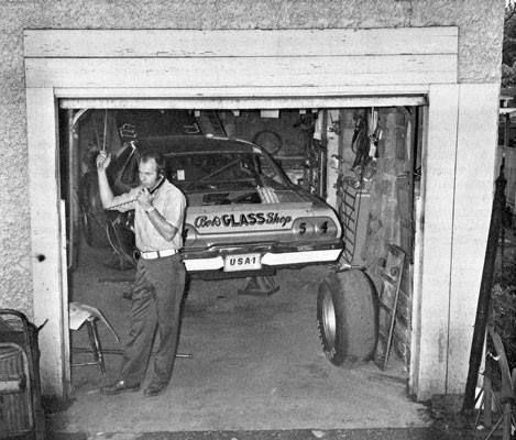 Lennie Pond's NASCAR Shop circa 1973