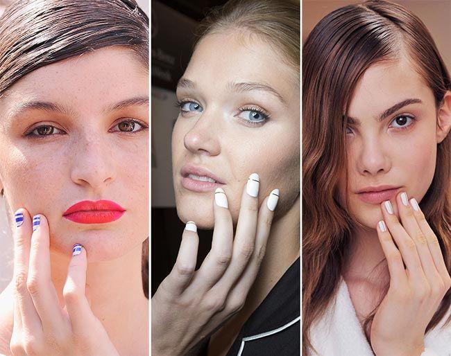 Весна/ Лето 2015 Ногтевых Тенденций: Полосатые Ногти