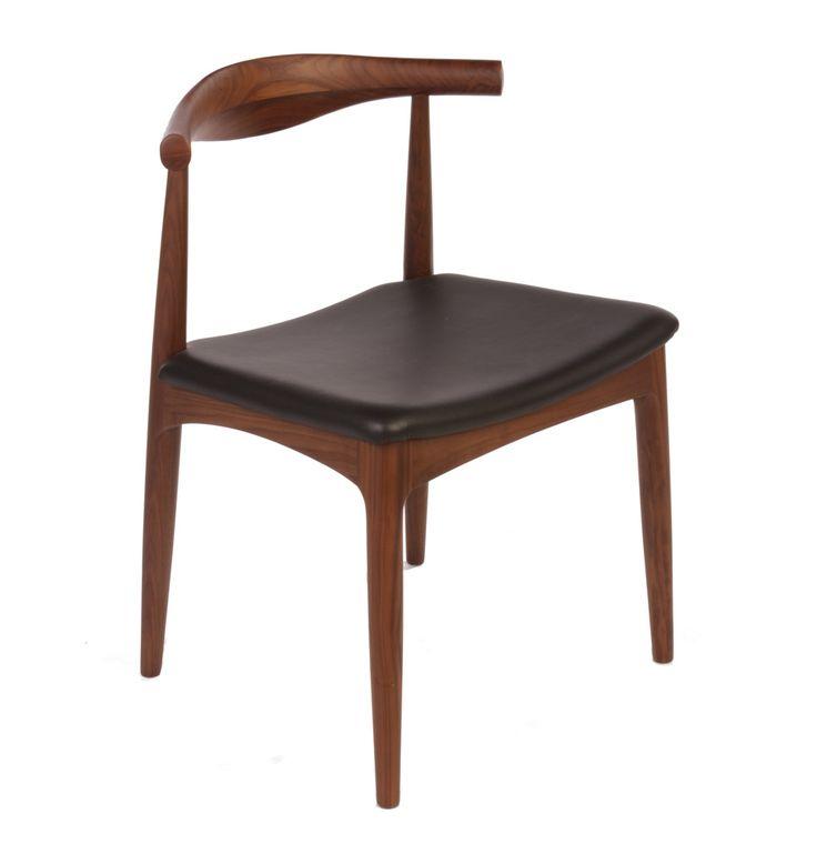 Replica Hans Wegner Elbow Chair CH20 - Walnut - Matt Blatt