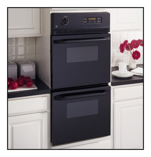 """GE - 24"""" Built-In Double Electric Wall Oven - Black"""