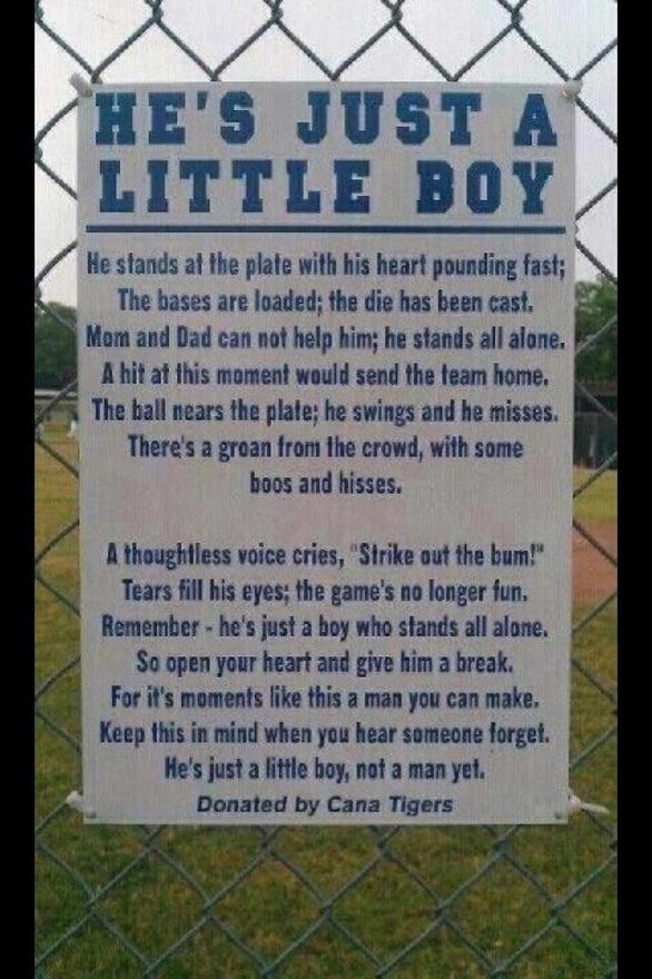 If you have ever been to a little league baseball game, you can relate. hermannstelling