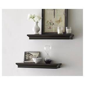 "Threshold™ Set of 2 Traditional Shelves - Brown (15.75"")"