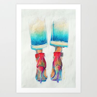 High-Ideals 2 Art Print by Lynsey Morgann Laurence - $64.48