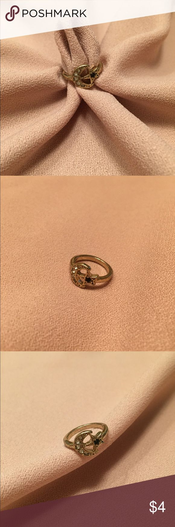 MOON AND STAR MIDI RING OR PINKY RING Cute and classic! This small but detailed ring is a great outfit topper and little show stopper. Charlotte Russe Jewelry Rings