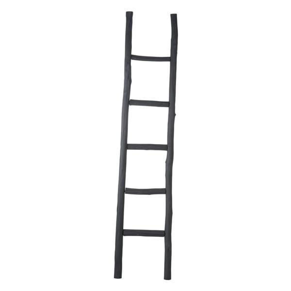 Black Wooden ladder #worthynzhomeware wwworthy.co.nz