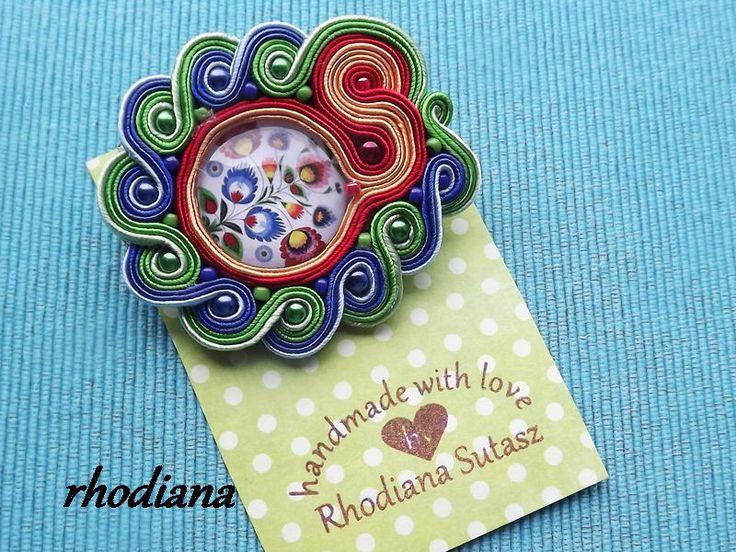 Kolorowa+Folkowa+broszka+sutasz++w+rhodiana+na+DaWanda.com