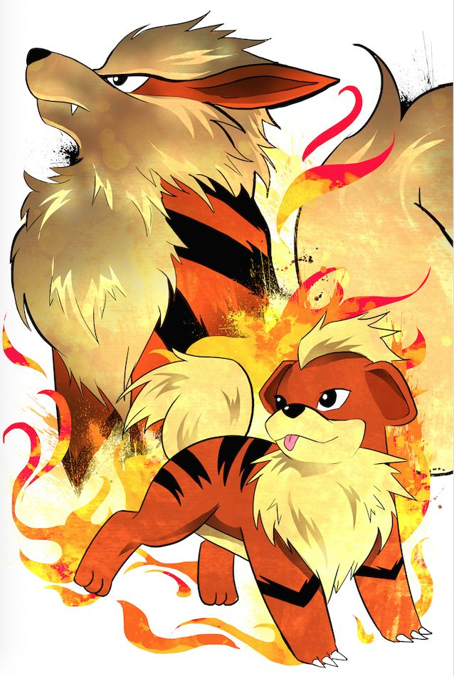 By request my growlithe arcanine evolution art son - Arcanine pics ...