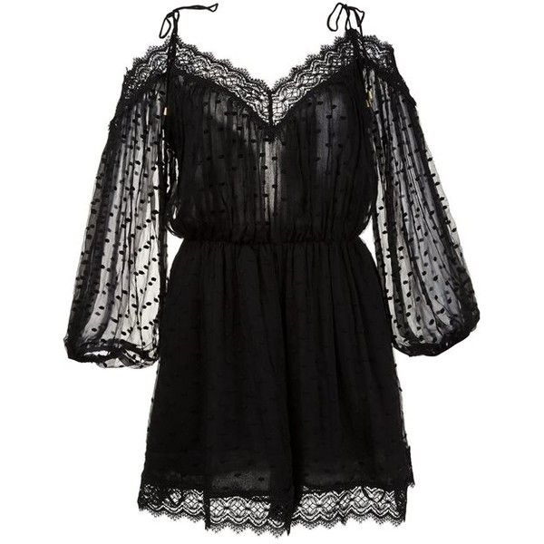 Zimmerman Realm Scallop Romper (630 AUD) ❤ liked on Polyvore featuring jumpsuits, rompers, kirna zabete, shop all, romper jumpsuit, jump suit, sheer jumpsuits, playsuit romper and zimmermann