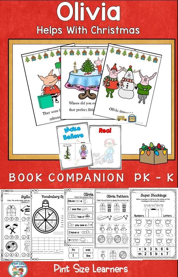 Book Companion Olivia Helps With Christmas Grades Pkk