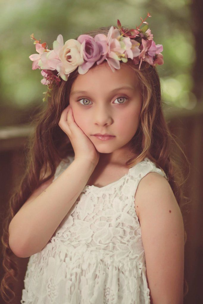 Pink Rose Floral Crown, Pink Flower Headband, Flower Crown, Wedding Headpiece, Bridesmaid headpiece, flower girl headband halo