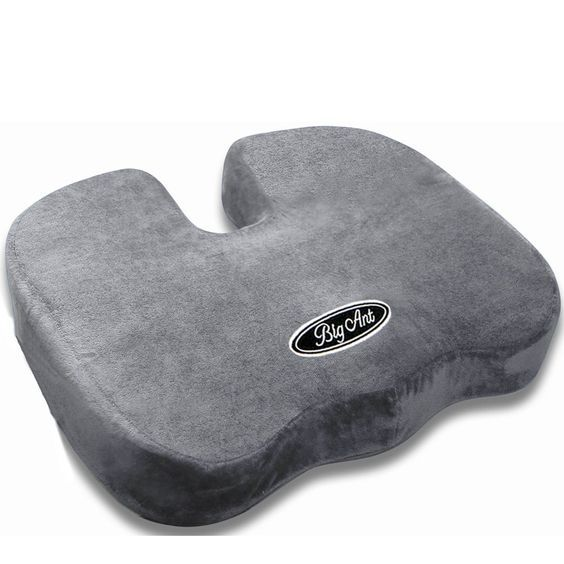 Big Ant Memory Foam Seat Cushion for Back Pain - Grey ** You can get more details by clicking on the image.
