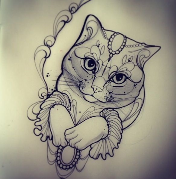 cat face tattoo cat tatoo miss juliet tattoo juliet tattoos tatoo lace ...