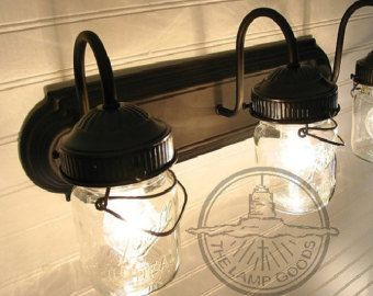 Mason Jar Ceiling Fan LIGHT KIT ONLY with Vintage by LampGoods