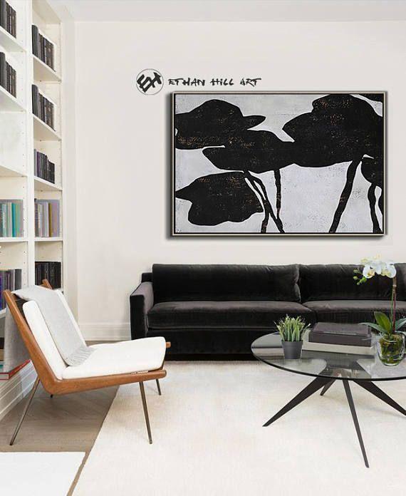 Ethan Hill Kunst Abstrakte Malerei schwartze weiße Blumen, großen Leinwand Wandkunst, minimalistische Malerei - Ethan Hill Art No.H132H Kostenloser Versand mit DHL, FedEX International Express, um überall in der Welt! ------------------------------- DETAILS