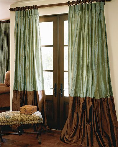 To drape or not to drape, that is the questions.  Signature Collection Bordered Silk Drapes