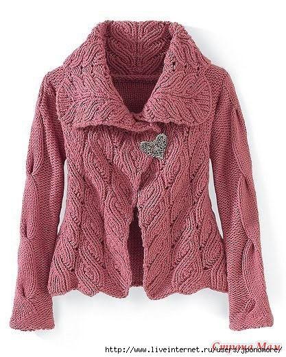 Пальто и жакет - очень красивый и стильный узор