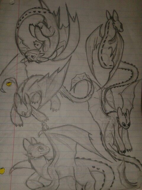 """My toothless drawings :)"" Citlalli Reyes"