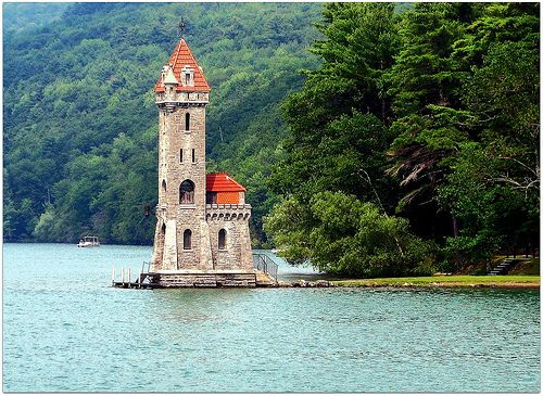Kingfisher Tower. Otsego Lake. Cooperstown,New Yotk.