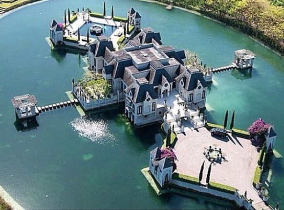 Huge house on its own island