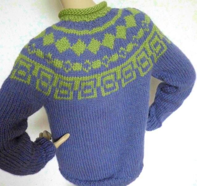 Pullover - Hübsche Farben Norweger Pullover Damen S M Alpaka - ein Designerstück von josymia bei DaWanda