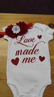 love Made me Body Suit - Valentines Day Bodysuit - Coming Home bodysuit by ThePurpleLadybug1 on Etsy