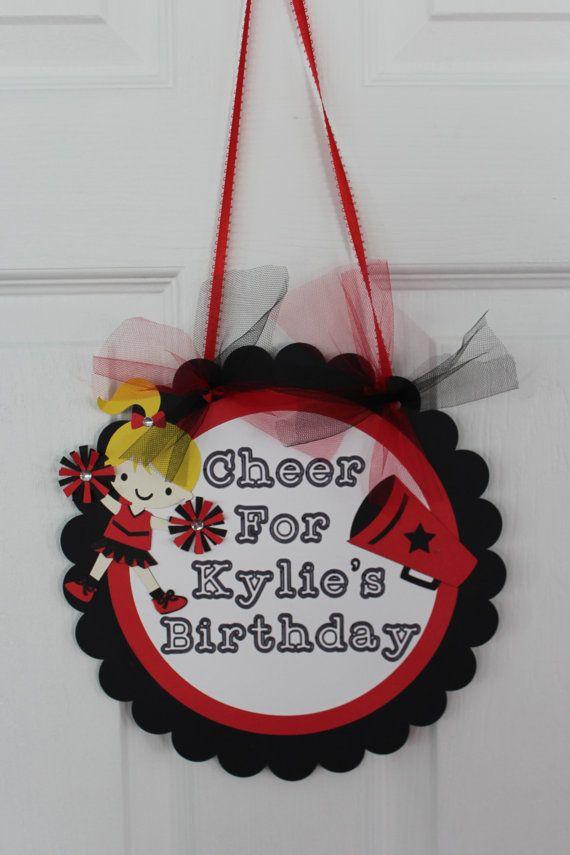 Cheerleading Themed Birthday Party Door Sign - Cheer Door Sign