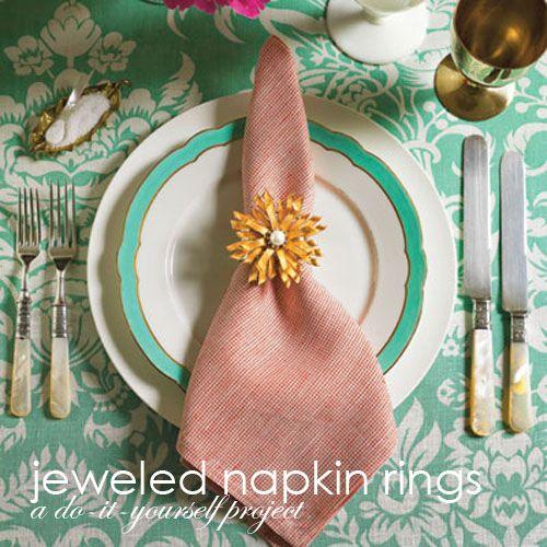 Quick fun napkin rings