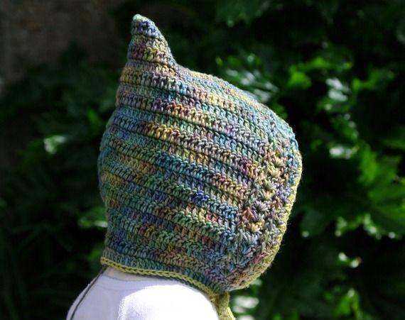 27 - Patron de layette au crochet - bonnet béguin d'hiver pour bébé - 1 mois / 18 mois