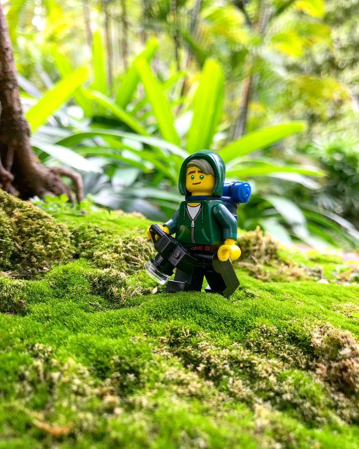 Lego Fotograf im Wald wandern   – Foto-Ideen