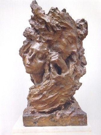 Anna Golubkina Mist. Vase. 1899 Bronze cast. 1940