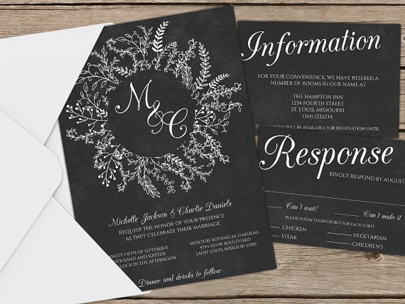 Best 25+ Chalkboard wedding invitations ideas on Pinterest - chalk board invitation template
