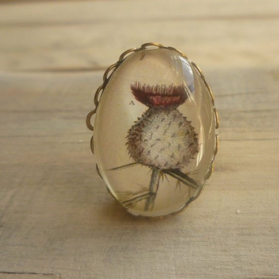 Miniature Vintage Thistle Brooch    Antique by SilkPurseSowsEar, £5.00: Brooch Iii, Brooches, Thistle Things, Thistles, Products