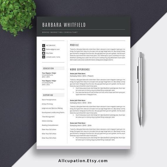 2019 2020 Resume Template Cv Template Best Selling Resume Showcasing Profile Work Experience Resume Template Professional Resume Template Cv Template Word
