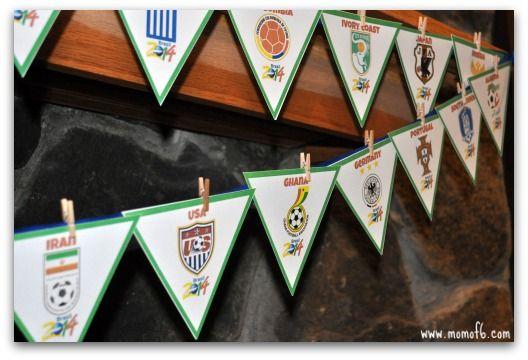 Coppa del Mondo Banner B3 Mondiali 2014 di calcio Banner!  {Free Printable}