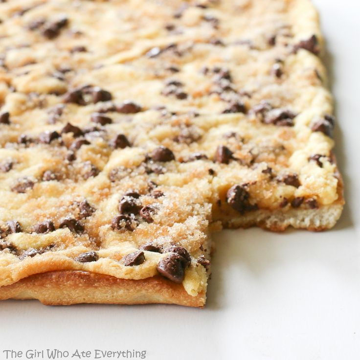 Chocolate Chip Pizza | The Girl Who Ate Everything