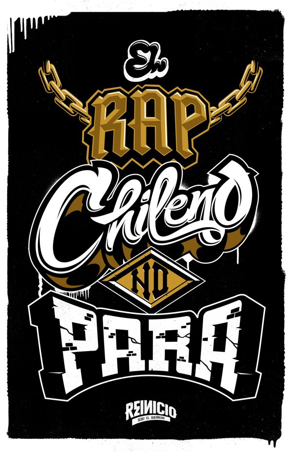 El Rap Chileno no Para by Gabo Romero, via Behance