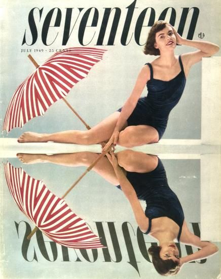 July 1949 issue of Seventeen Magazine, designed by Cipe Pineles. Classic.