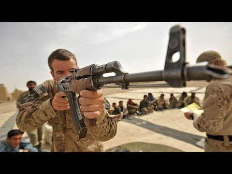 US Marines Shooting German, French, Austrian & Russian Weapons: HK G36, FAMAS, Steyr Aug & AK47