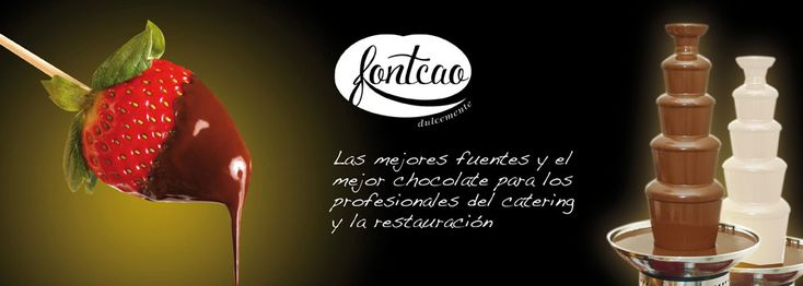 Venta y alquiler de fuente de chocolate para bodas, comuniones, bautizos,reuniones.etc www.fontcao.com