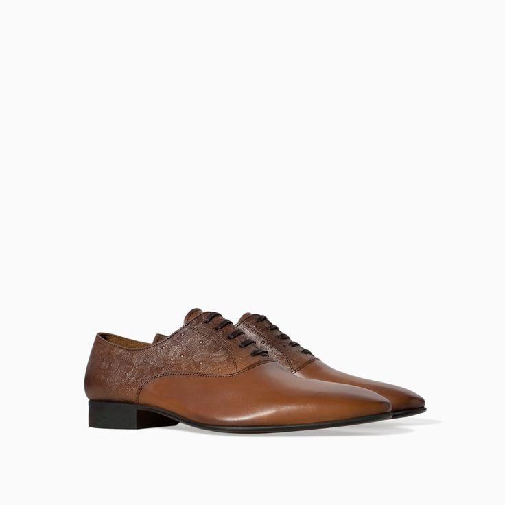 Zara Brushed Leather Oxford Shoe