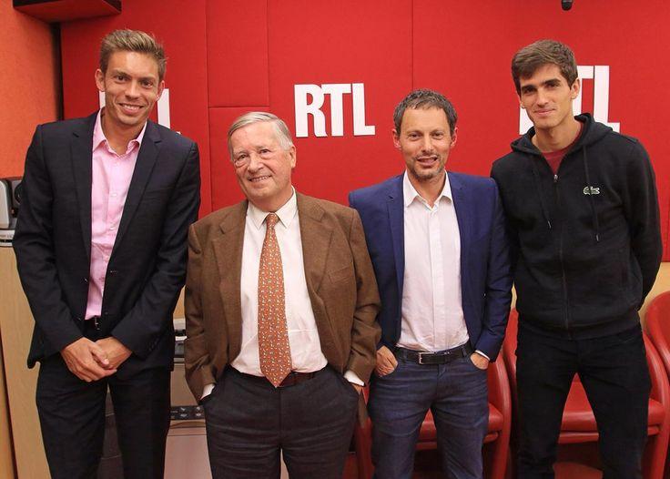 Nicolas Mahut et Pierre Hugues Herbert invités de Marc-Olivier Fogiel et Alain Duhamel #USOpen2015 #rtl #RueBayard #pierrehuguesherbert #nicolasmahut #alainduhamel #marcolivierfogiel #tennis #champion by rtl_france