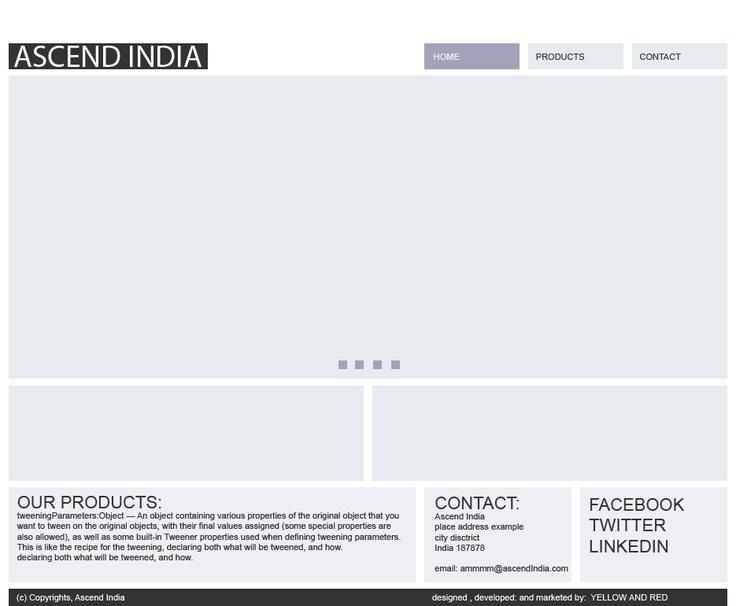 Ascend India - Website Simple Design    Light blue and light purple