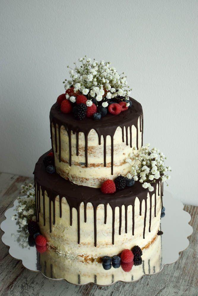 Nude Cake Hochzeitstorte, Chocolate Drip Hochzeitstorte – Fondue … – Torten