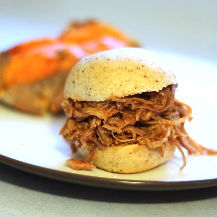 This pulled pork recipe is a cinch to make when you whip it up in the crockpot. Add some BBQ sauce and your dinner is done!