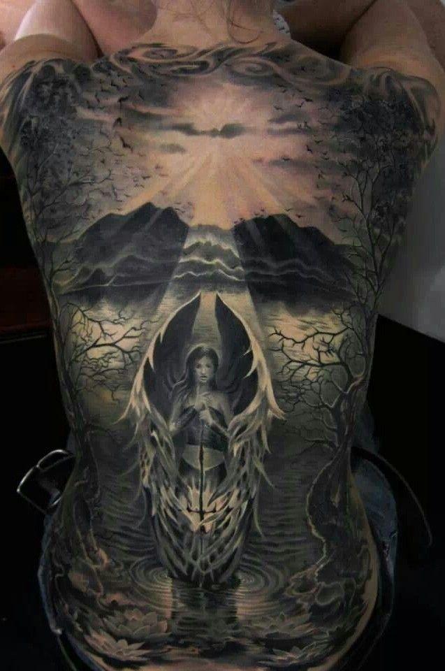 Les 19 meilleures images du tableau tatouage gothique sur for Full lower back tattoos