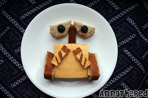 Wall - E Sandwich: Pixar movies and food.  2 of my favorites.