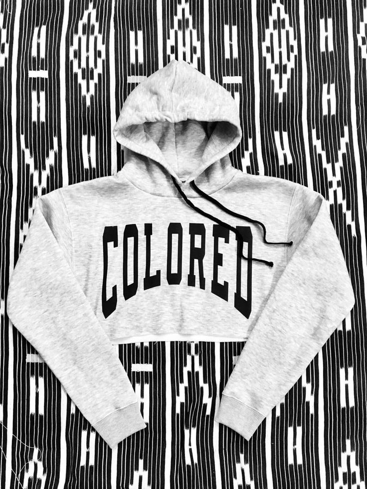 COLORED Large Font Crop Top Hoodie                      – Leimert Park Threads