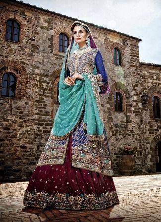 Bridal lenghas that will make your heart skip a beat. #MuslimWedding, www.PerfectMuslimWedding.com