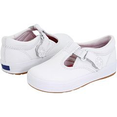 Keds Kids - Daphne T-Strap 2 (Infant/Toddler) love, love these shoes. Chez had these and they go with everything! and stayed white lol.