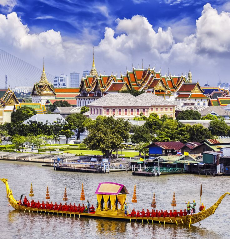 Landscape of Thai's king palace with goldent guard ship, Thailand | Top 10 Most Visited Countries in the World in 2014